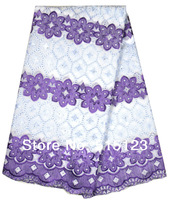 2014 spring new deisgn African swiss voile lace eyelet stone cotton lace 5yards shipping free by DHL