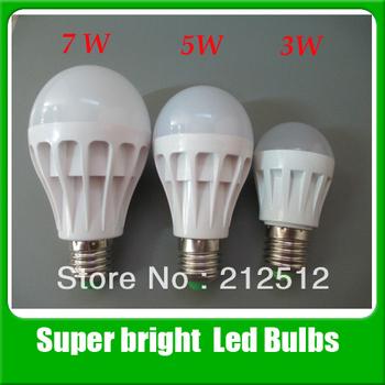 Big Sale Free Shipping 5pcs/lot High Brightness Led Lighting 3w / 5w / 7w 220v SMD2835 Led Lamp Bulb
