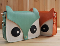2013 Women Fashion PU Leather Cute Cartoon pattern Fox Head Shoulder messenger Bag Handbags 7 Colors