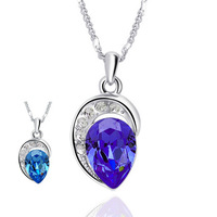 Rouqingsishui crystal pendant jewelry brand two -color optional Ngan Network detonation MM favorite Christmas gift
