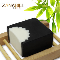 (2pcs/lot) Natural Bamboo Charcoal Handmade Soap Beauty Soap for Anti Acne and Blackhead Remover