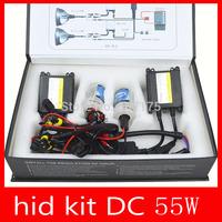 High quality hid kit 55w DC hid xenon kit H1/H3/H4/H7/H11/880 4300k 5000k 6000k 8000k 12000k 10000k free shipping