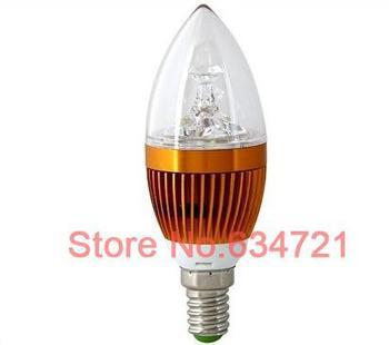 5PCS 3W LED Candle Light Bulb E14 E27 LED Energy Saving Lamps Crystal Hanging Lamp Free Shipping