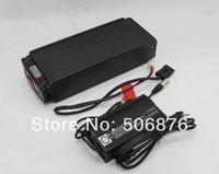 2014 New Design 48V 20Ah Li-ion Battery with Black Flat Aluminium Case, BMS Board, Charger for Ebike Li-po lithium