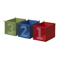 3 pieces 100% polyester  kids folded storage boxes