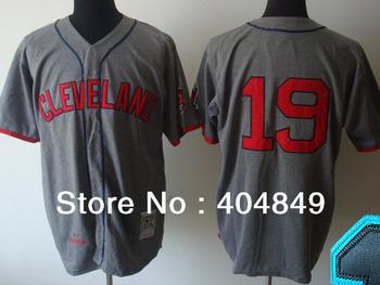AA+ 19 multi type Bob Feller jersey,throwback Indians home white gray authentic,women men custom baseball free shipping