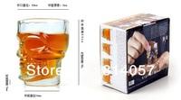 8 PCS Creative Crystal Head Vodka Skull Cups 74 ML, Glass Shot Head Skull Mugs Set for Wine Whiskey Glass Sets (4PCS/Retail Box)