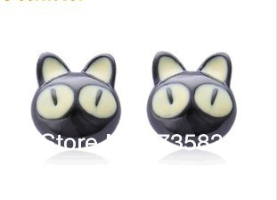 Free shipping Hot Sale Bela fashion jewelry Perky Air Cat Kitty earring Cute Cat Summer New multicolor factory direct