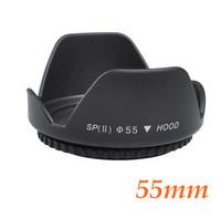 Free shipping High Quality Metal 55mm 55mm Screw Mount Flower Lens Hood