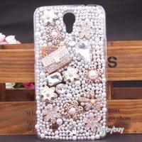 Luxury 3D Flower Handbag Bling Diamond Case For Samsung Galaxy Mega 6.3 i9200 Free Shipping