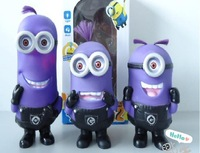 3d despicableme milk purple plastic hand-done, 3pcs/lot  Toys  Minion Jorge Stewart Dave Stuffed Animal Doll