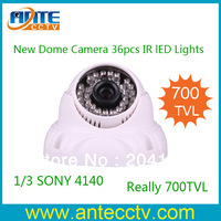 Security Camera Dome Style, 700TVL SONY CCD CCTV Camera 36pcs IR Led lights