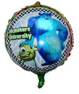 Großhandel 10pcs/lot 18 zoll Monster Universität helium folienballons aluminium mylar cartoon luftballons forchild geschenk versandkostenfrei
