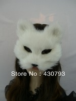 Free Shipping Wholesale Silver Fox Mask,Party Mask,New Style Dance Mask,White and Light Gray