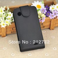 PU Leather Case for Lenovo A660 Side Open Phone Cases Black Color Free Shipping