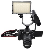 Triple Hot Shoe V Mount Dual Bracket for Video Lights, Microphones or Monitors+Tracking Number