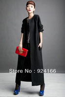 2014 Winter Elegant Woolen Overcoat Cashmere Trench Overcoat Fashion Normic Clothes O-neck Hot Selling
