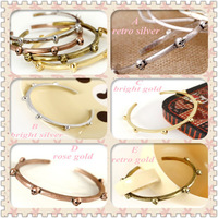 Minimum Order $20 (mixed order)   Fashion accessories outstanding quality exquisite metal punk openings skull bangle
