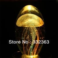 Free shipping 4 colors Christmas gifts  Crystal ball music box  jellyfish music box decoration wedding gift birthday gift