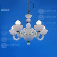Luxury Vintage exquisite lamps Elegant Glass White Black Swan a5 Pendant Light Lamp E14 Holder Led Bulbs European style