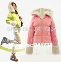 New Women's hooded Parkas coat/Ladies' surcoat cloak/winter warm imitated wool slim overcoat/5 colors topcoat,WTW