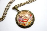 10pcs/lot Anubis and Osiris, Hieroglyphics Necklace glass cabochon necklace