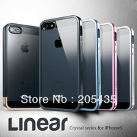 SPIGEN SGP Linear Metal Crystal Series Case + 1 Lower Part For iPhone 5 5S Retail Box+1 Free Screen