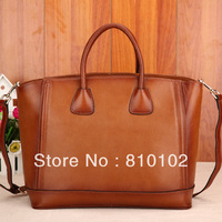 2013 fashion brief women's casual real genuine leather handbag first layer of cowhide female handbag messenger bags