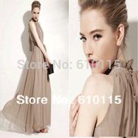 2013 Women Floor Length Stand Collar Women Long Floral Evening Dress With Belt 10 Colors