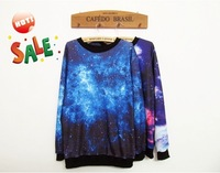 Sale!!2013 Women galaxy Top Space Printed galaxy Hoodies lady galaxy sweatshirts high quality Free Shipping WH-004