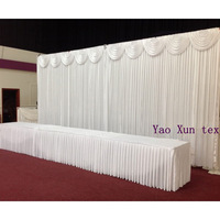 White Color Free Shipping Wedding Backdrop 3M*6M\Wedding Curtains\Wedding Decoration Best Quality