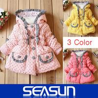 Wholesale Girls Outerwear Beautiful Children Dot Hoodies Kids Jackets & Coats Baby Girl Spring Autumn Waterproof 3PCS/Lot