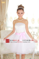 new 2014 evening dresses free shipping tube top the bride design short dress costume short evening dress