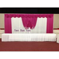 Wedding Backdrop\Wedding Background\Backdrop 3M*6M Free Shipping(White and Fuchsia )