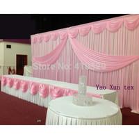 Pink Wedding Backdrop\Wedding Background\Backdrop 3M*6M Free Shipping