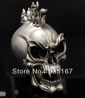 Free shipping antique silvering punk skull furnishing articles motorcycle decoration home decoration