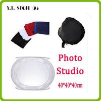 Free shipping Photo Studio soft box Shooting Tent Softbox Cube Box,40 x 40cm/photo light tent +portable bag + 4 Backdrop hotsale