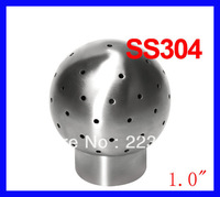"Free shipping 1.0"" SS304 weld 360 degree, Spray tank clean head, Static cleaning ball, Spray ball"