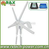 Horizontal wind turbine generator 400w rated, 600w max wind generation +wind/solar hybrid controller(LCD display)+600w inverter.