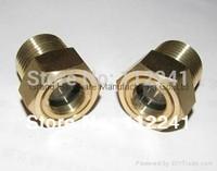 """NPT 1"""" Brass Oil sight glass"""