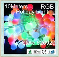 Free ship,LED Holiday lighting,Chrismas lights10meters,flasher lamp,ball lighting string lawn lamp spherule garden lights