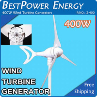Free Shipping, 3 Blades 400W DC12V/DC24V Wind Generators, Small Windmill, Wind Turbine Kits CE/ISO9001 + 3 Years Warranty