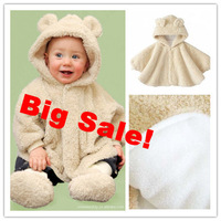 Top grade Autumn/Winter baby clothing infant toddler cloak coats jackets 3-layer 0-3T boy girl 2-way wear 613107