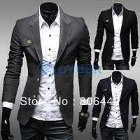 2013 New Men's Blazers Casual Top Design Sexy Slim Fit Suit Coat Male Jackets Outerwear 3 color 4 size 18461