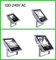 2X IP65 Grey LED Flood Light 10w/20w/30w/50w 100-240V AC high power led outdoor lighting Warm(3000k)/Pure White(6000k)