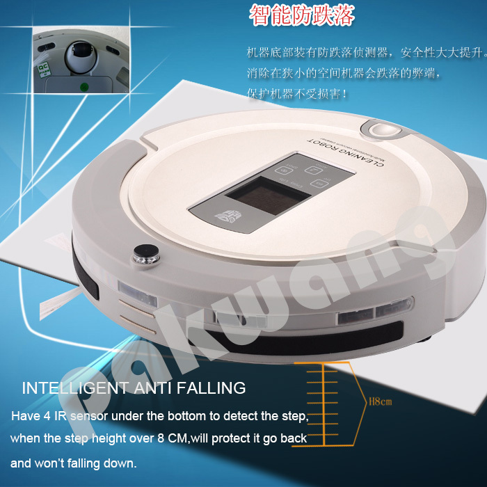 2015 New Gift with UV Lamp, Remote Control, LCD Display Automatic Vaccum Cleaner Iclebo Arte(China (Mainland))