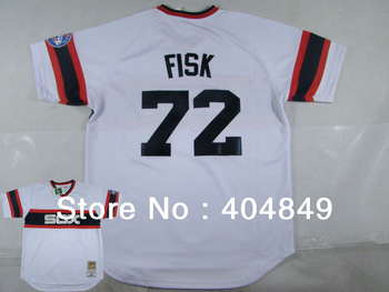 AA+ 72 multi type carlton Fisk jersey,white sox gray red black throwback authentic,women youth custom baseball free shipping