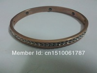 Hot Selling New Coming Fashion Healing Magnetic  Bracelet,stainless steel rosegold plating,CZ stone inlayed