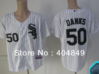 AA+ 50 multi type John Danks jersey,white sox new home gray black pink authentic,women men custom baseball free shipping