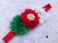 Baby girl headbands Shabby Chiffon flower Hair Bow head band Pearl hair band Headwear